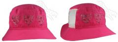 Letní klobouček srdíčka se síťkou malinový RDX