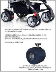 Návleky na kola - čtyřkolky, golfové hole se zdvojenými kolečky 4 ks