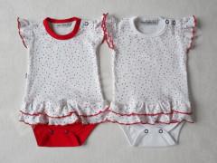 Body krátký rukáv se sukýnkou Puntík Baby Service vel. 62 - 80