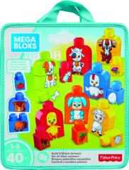 Mega Bloks sestav si zvířátka 40 ks