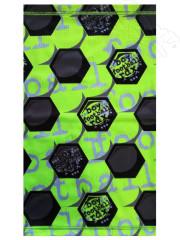 Funkční tunel- multifunkční šátek míč neon. zelená RDX