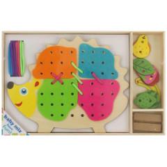 Dřevěná provlékací hračka Baby Mix Ježek