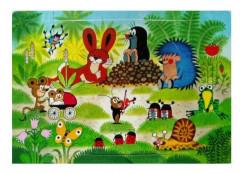 Pěnové puzzle KRTEK - setkání na zahradě - 6dílků