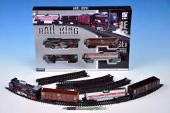 Vlak s kolejemi - plastový na baterie se světlem