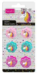 Sada kytičkových clipů do vlasů Jednorožec