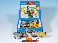 Zvířátka farma plast 8-13cm  1 ks