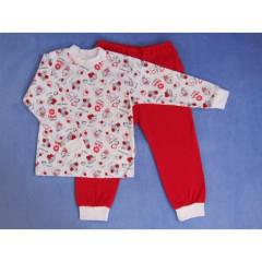 Bavlněné pyžamo berušky a včeličky červené vel. 92