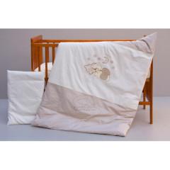 Dětské povlečení 2dílné Měsíček - béžové 100 x 135 cm