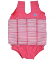Dětský plováček - plavečky růžová s pruhy