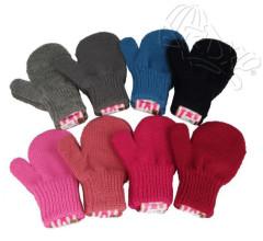 Zimní dívčí palcové rukavičky pletené Vel. M