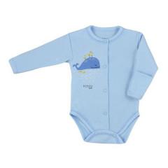 Kojenecké celorozepínací body Koala Happy Baby modré