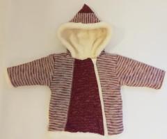 Zimní kabátek s kapucí wellsoft zateplený červený Baby Service