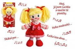 Panenka Lucinka hadrová plyš 30cm česky zpívající