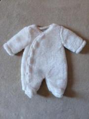 Zimní kombinéza zateplená beránek bílá Baby Service