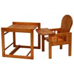 Dřevěná židlička Scarlett kombi olše masiv borovice