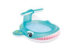 Bazén dětský s rozstřikováním Velryba Intex 57440