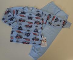 Bavlněné pyžamo auta rally sv. modré vel. 86