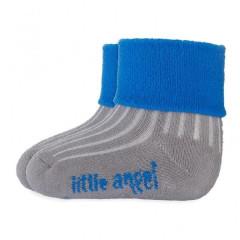 Ponožky froté Outlast® Tm.šedá/modrá