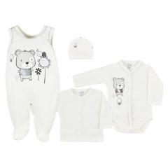 4-dílná kojenecká souprava v Eko krabičce Koala Darling krémová Vel. 68