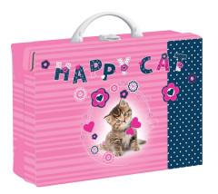 Dětský kufřík hranatý Kočka