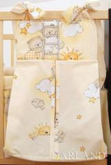 Kapsář - zásobník na pleny Medvídek na mráčku žlutá bavlna