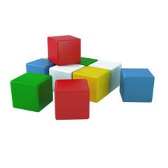 Barevné stavební extra velké kostky 10 ks pro nejmenší