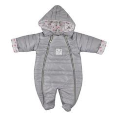 Zimní kojenecká kombinéza Koala Pumi holka šedá