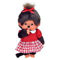 Plyš Monchhichi Holka s červenými šaty 20 cm