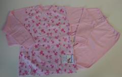 Bavlněné pyžamo kočičky růžové vel. 122