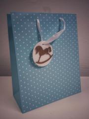 Dárková taška puntíky modrá 23 x 18 cm Albi