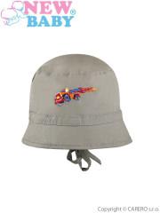 Letní dětský klobouček New Baby Truck vel. 80 ZELENÝ