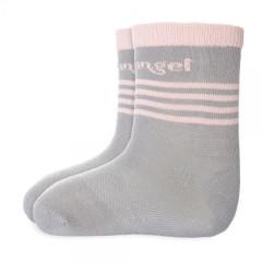 Ponožky s protiskluzem Outlast® Tm.šedá/sv.růžová