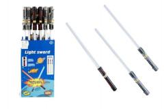 Meč svítící plast 72cm na baterie měnící zvuk dle pohybu se světlem