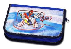 Školní pouzdro 2-klopy prázdné Hockey Emipo