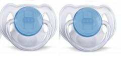 Šidítko silikonové  6-18m 2ks Avent modré