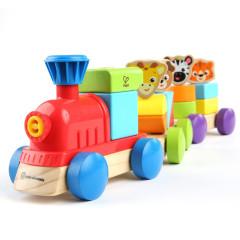Hračka dřevěná Discovery Train Hape 18 m+