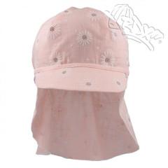 Letní kšiltovka s plachetkou sv. růžová kopretinky RDX
