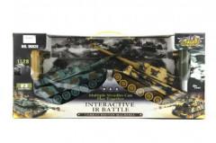 Tank RC 2ks 36cm tanková bitva+dobíjecí pack 27MHZ a 40MHz se zvukem, světlem
