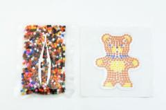Zažehlovací korálky medvídek plast 900ks v sáčku