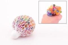 Antistresový míček s kuličkami v síťce