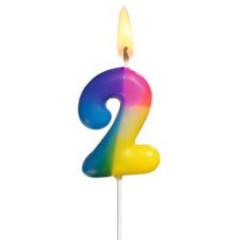 Narozeninová svíčka ČÍSLO 2