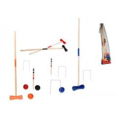 Hra kroket pro 4 hráče dřevěná