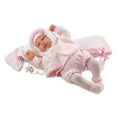 Panenka - New Born holčička s doplňky 44 cm