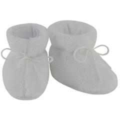 Kojenecké botičky Lara bílá Vel. 2-5 měsíců