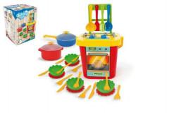 Kuchyň s nádobím plast 31ks Party World Wader