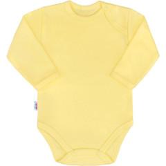 Kojenecké body s dlouhým rukávem New Baby Pastel žluté