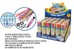 Balonky tvarovací s pumpičkou a očima 20 ks