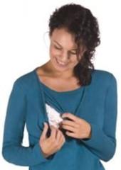 Triko pro kojení dlouhý rukáv KAJ - PETROL