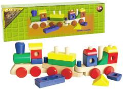Vlak velký dřevěný
