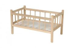 Postýlka pro panenky dřevěná velká 50cm